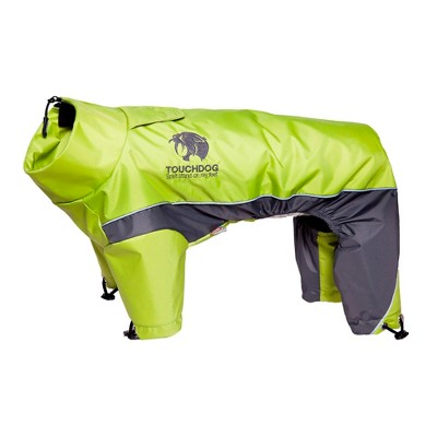 Touchdog Quantum-Ice Full-Bodied Adjustable and 3M Reflective Dog and Cat Jacket with Blackshark Technology - Green