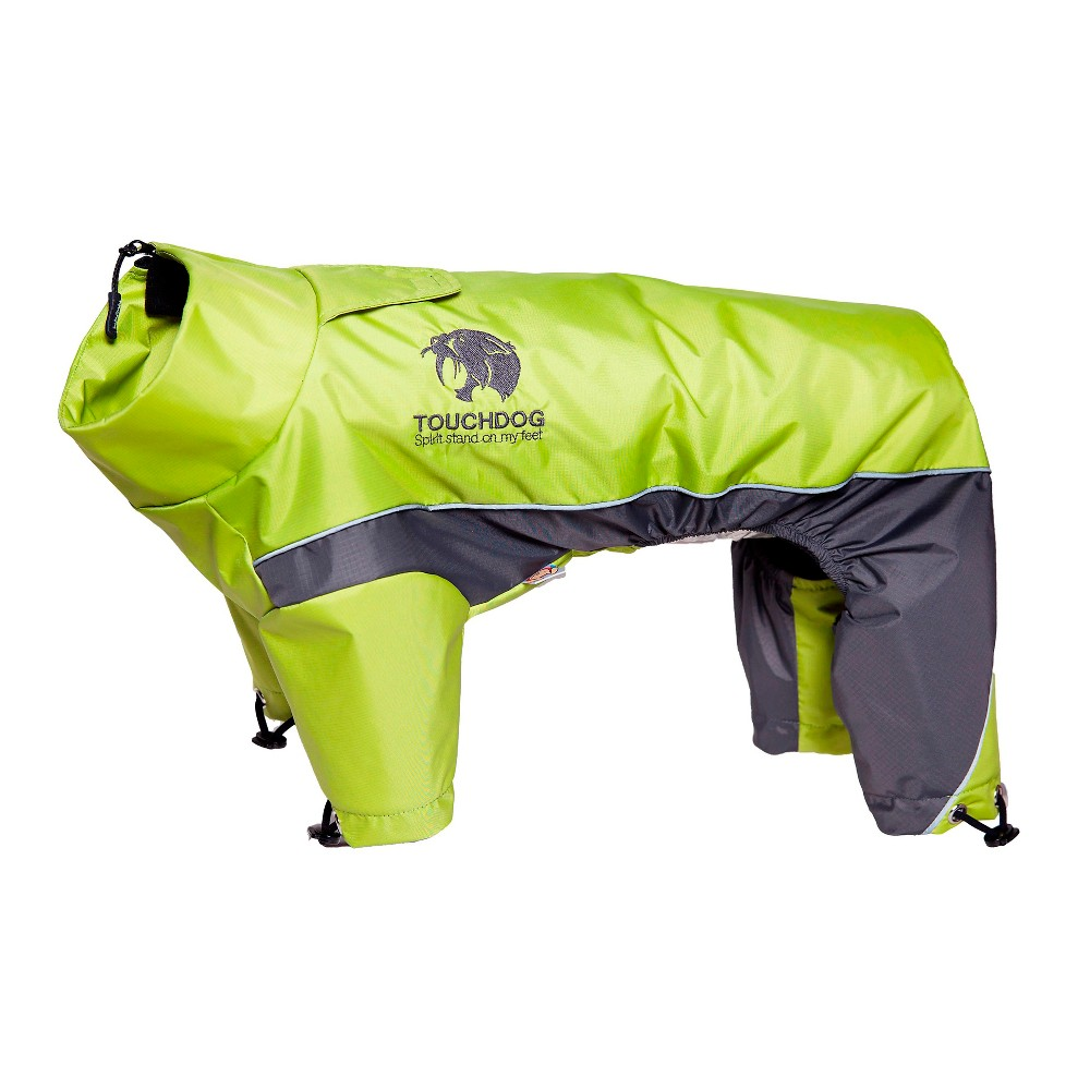 Touchdog Quantum Ice Full Bodied Adjustable And 3m Reflective Dog Jacket Green L