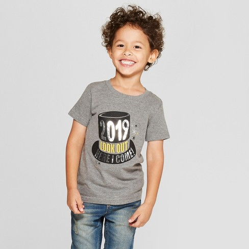 aae58353d12 Toddler Boys  2019 Look Out Here I Come Short Sleeve T-Shirt - Cat   Jack™  Black