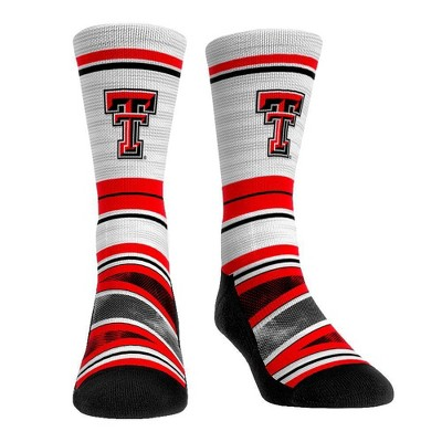 NCAA Texas Tech Red Raiders Adult Long Distance Crew Socks - L/XL