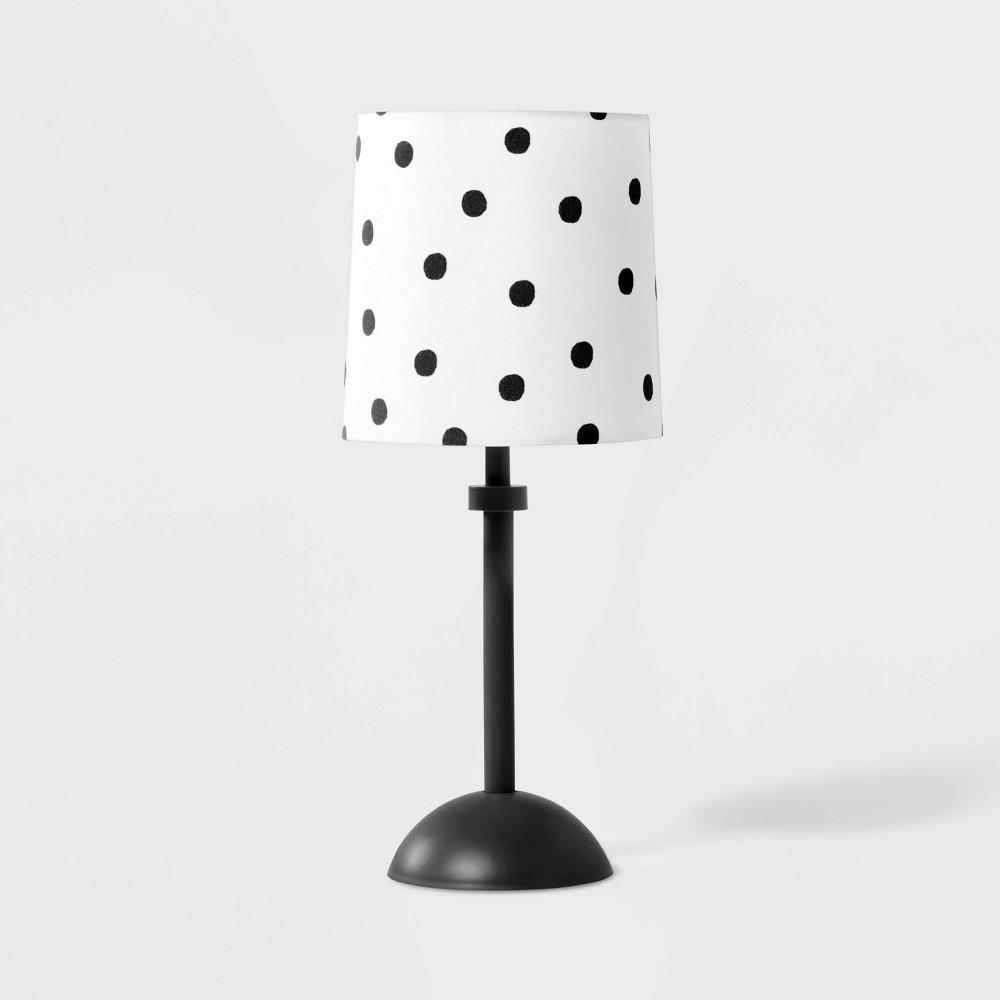 Polka Dot Accent Lamp Includes Energy Efficient Bulb Black White Pillowfort 8482