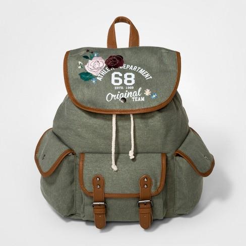 43e83dfd4b3d Girls  Floral Print Cargo Backpack - Art Class™ Green   Target