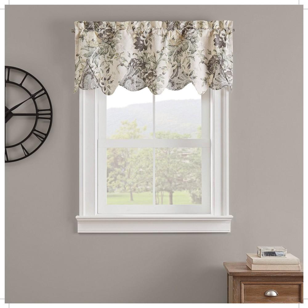 18 34 X52 34 Kensington Bloom Window Valance Gray Waverly