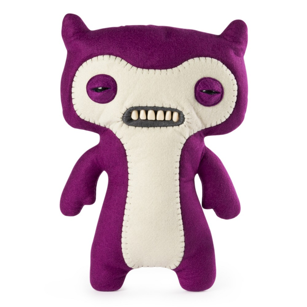 "Image of ""Fuggler Funny Ugly Monster, 12"""" Lil' Demon Deluxe Plush Creature with Teeth - Purple"""