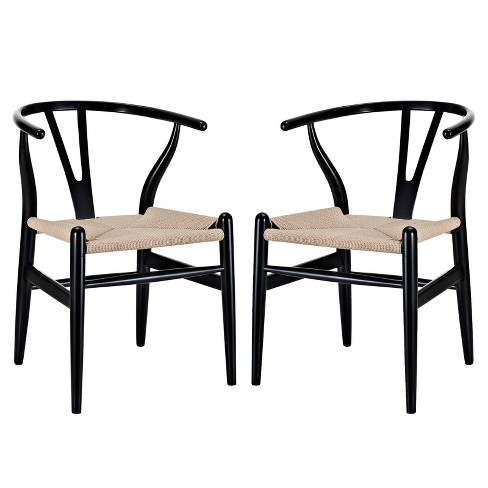 Amish Dining Armchair Set Of 2 Black Modway Target