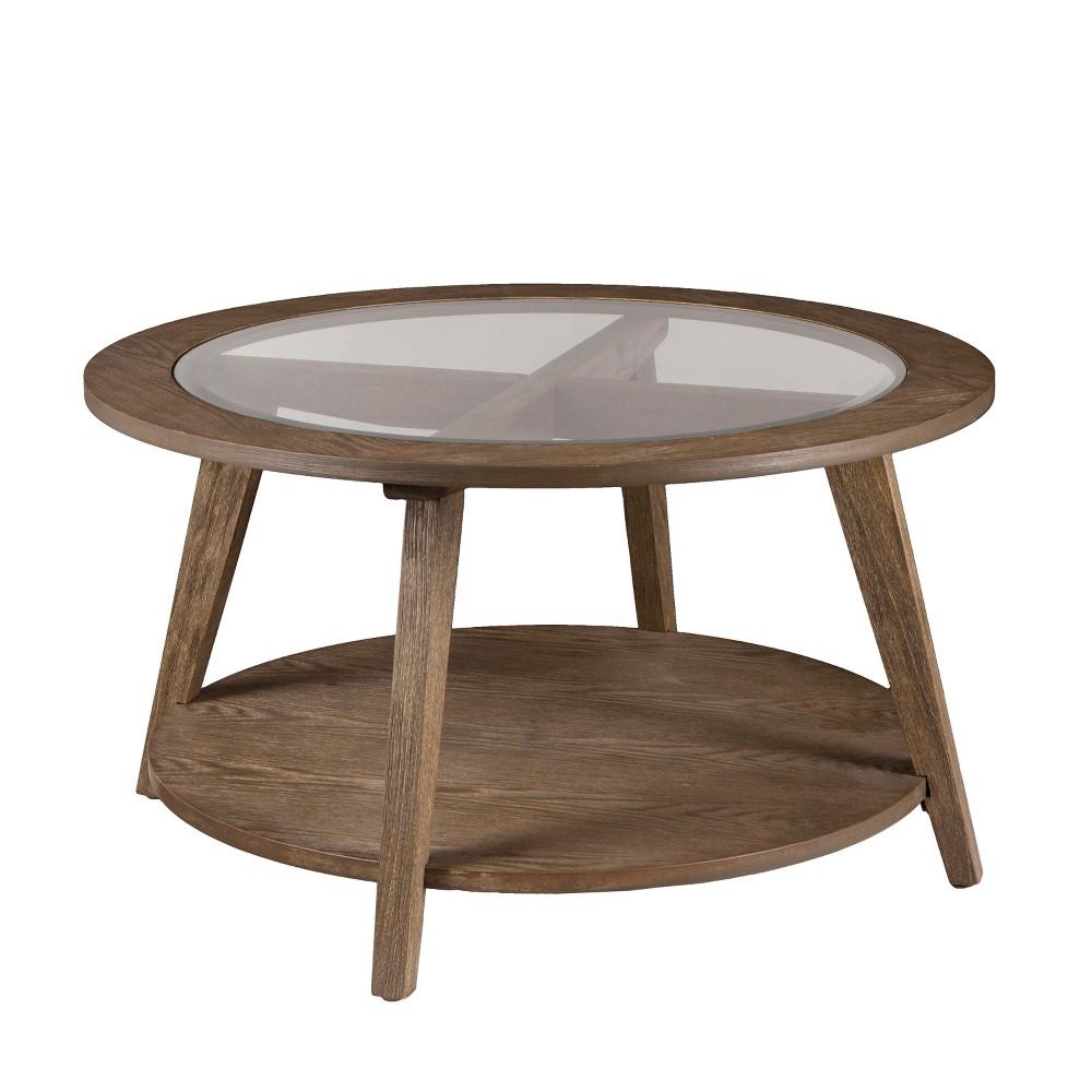 Carmine Round Cocktail Table - Aiden Lane, Brown