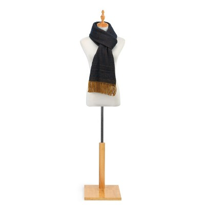 DEMDACO Soft Brushed Scarf - Gold and Navy 80 x 20 - Blue