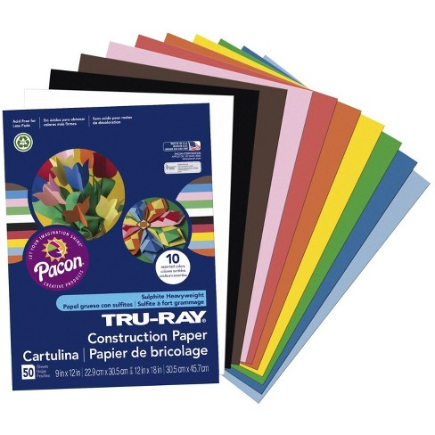 Tru-Ray Sulphite Construction Paper, 12 x 18 Inches, Assorted Standard Color, pk of 50 - image 1 of 1