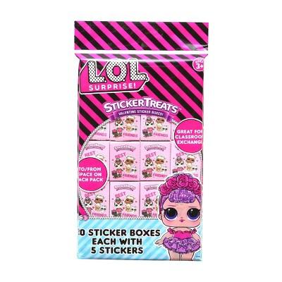 L.O.L. Surprise! 20ct Valentine Sticker Treats