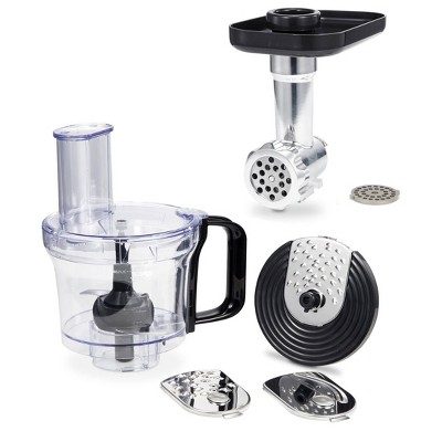 Geek Chef Stand Mixer Accessory Bundle with 2.6 Quart Food Processor Chopper Attachment and Fine and Coarse Mincer Meat Grinder Attachments
