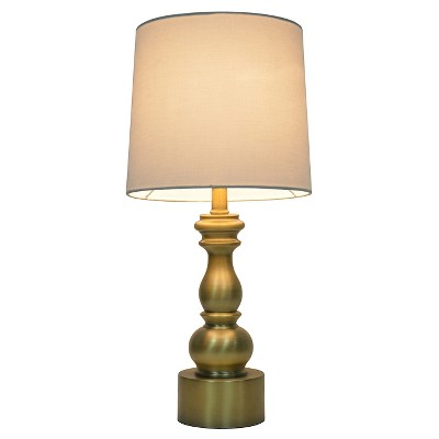 Turned Table Lamp with Touch On/Off Gold (Includes CFL bulb)- Pillowfort™