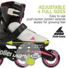 Rollerblade Microblade 3WD Inline Adjustable Lace Free Roller Skates for Kids, Gray and Candy Pink - image 3 of 4
