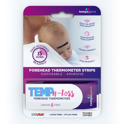 Tempagenix Temp-N-Toss Disposable Forehead Thermometer Strips - 6ct