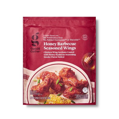 Honey Barbecue Seasoned Chicken Wings - Frozen - 28oz - Good & Gather™