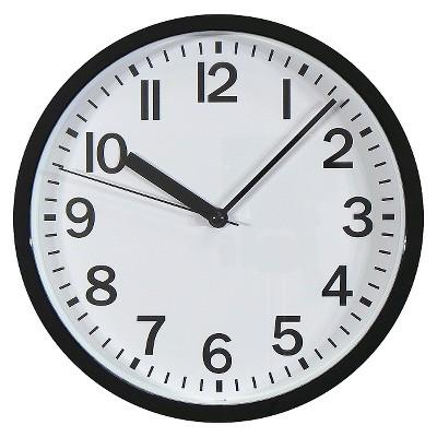 9  Round Wall Clock Black - Room Essentials™