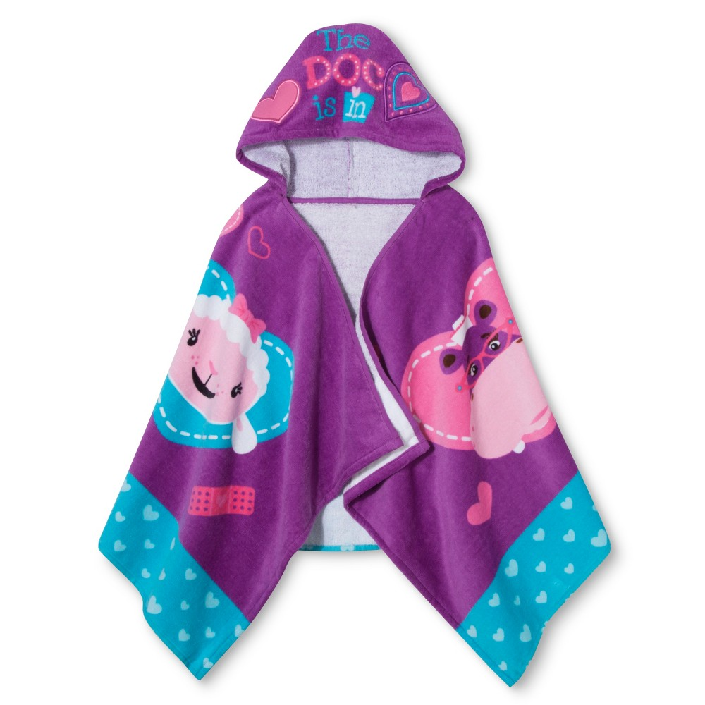 Disney Doc McStuffins The Doc is In Hooded Towel - Purple
