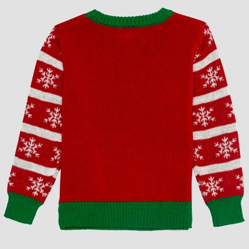 Toddler Boys Peanuts Snoopy Ugly Holiday Sweater Red Target