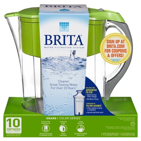 Brita Grand 10 Cup Water Pitcher Green Target