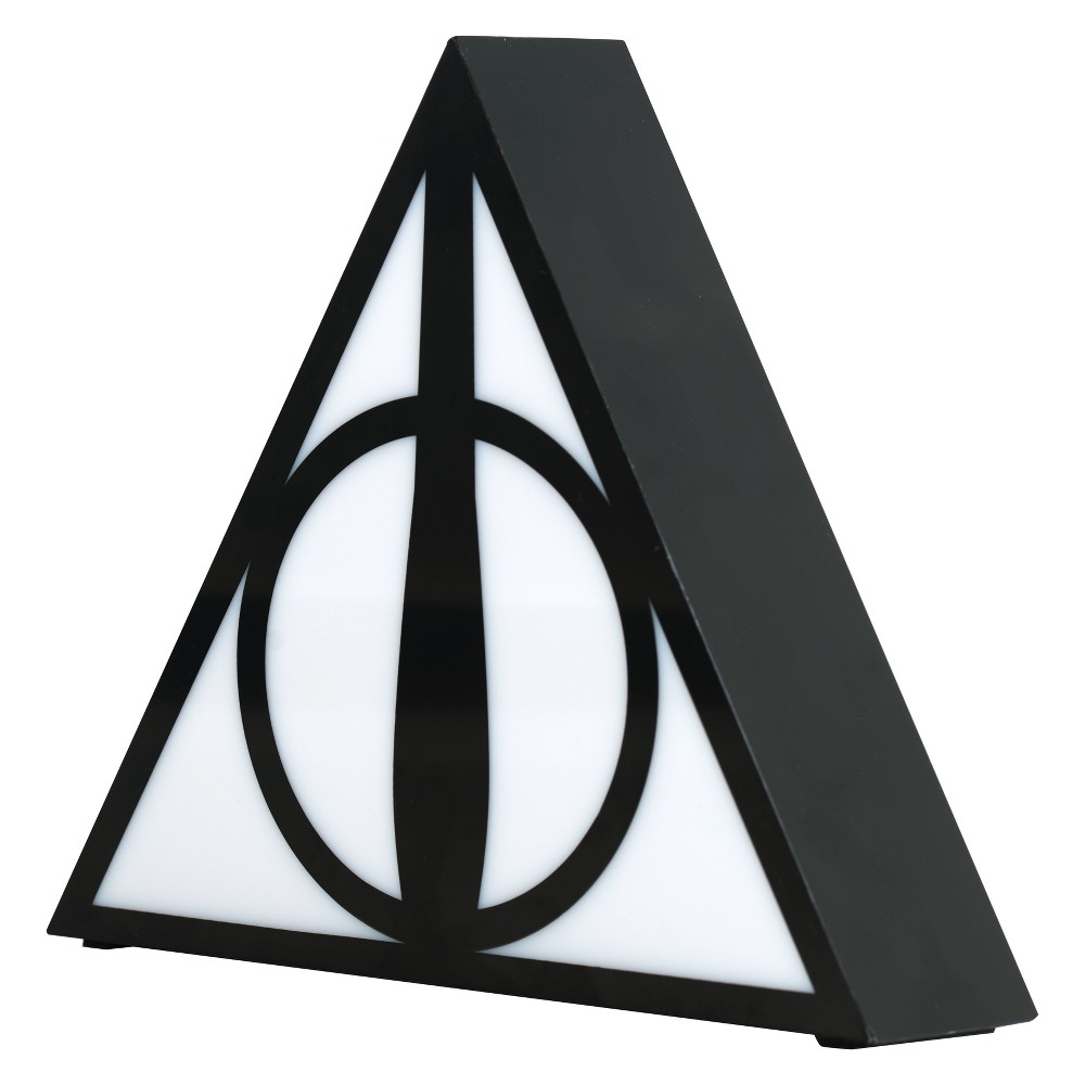 Image of Harry Potter Deathly Hallows Lamp Black/White