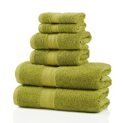 Classic Plush Absorbent 6-Piece Towel Set - Blue Nile Mills