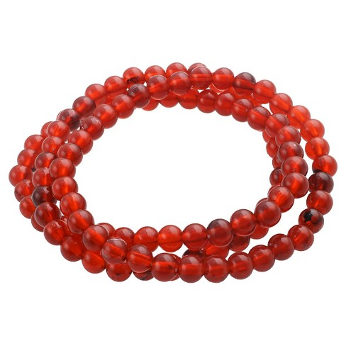 Women's 3 pc Acrylic Bracelet set - Red Colored - image 1 of 1