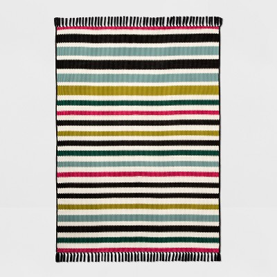 5' X 7' Colorful Multi Stripe Outdoor Rug - Opalhouse™