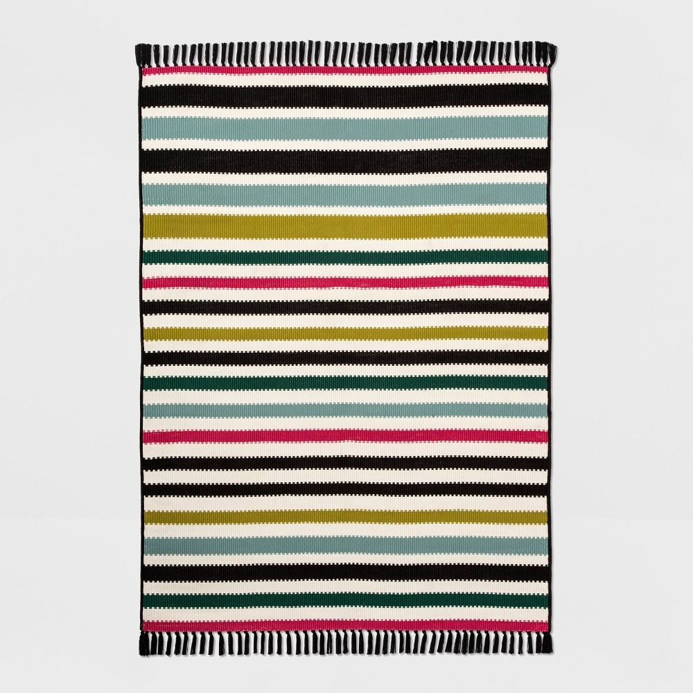 5' X 7' Colorful Multi Stripe Outdoor Rug - Opalhouse, Multicolored