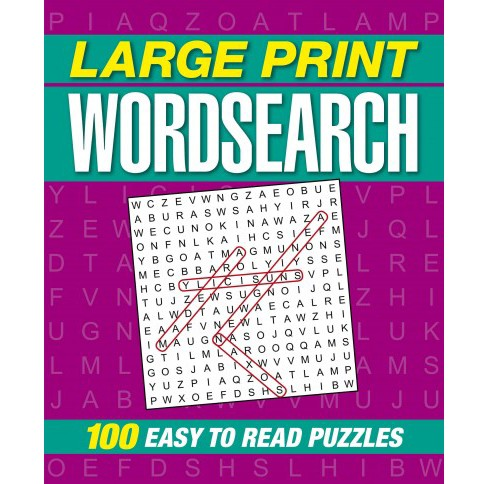 Large Print Wordsearch : 100 Easy to Read Puzzles (Paperback) - image 1 of 1