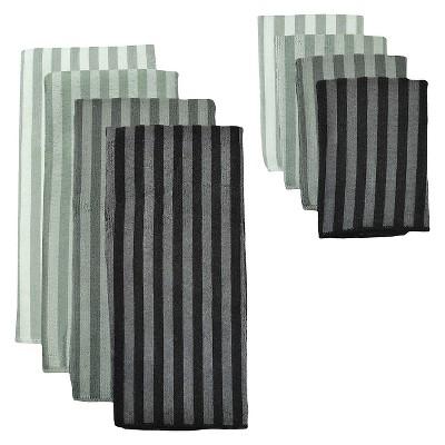 Microfiber Towel And Cloth Kitchen Towel Grey Set of 6 - Design Imports