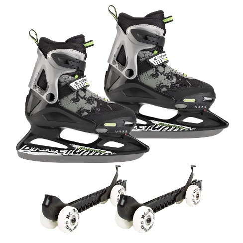 Rollerblade Bladerunner Micro Ice Skates, Large, and Skate Guard Rollers (Pair) - image 1 of 4