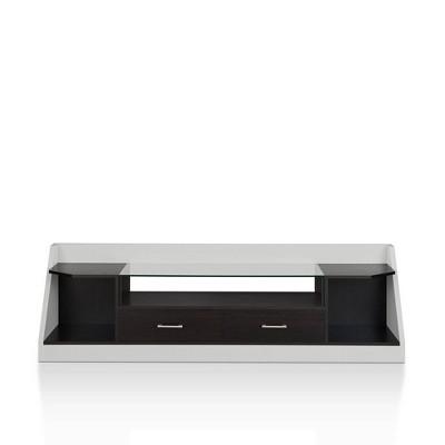 """80"""" Henry Storage TV Stand White/Espresso - miBasics"""