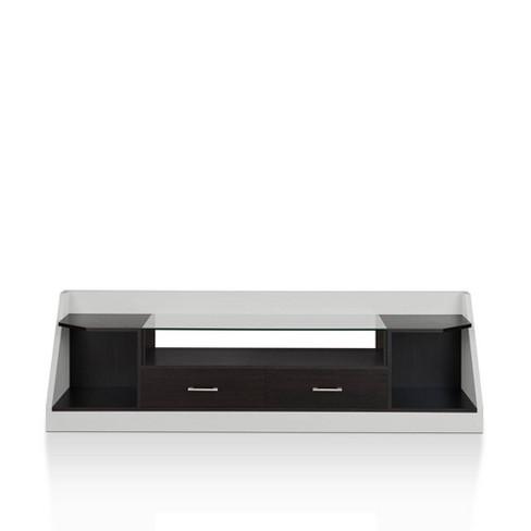 "80"" Henry Storage TV Stand White/Espresso - miBasics - image 1 of 4"