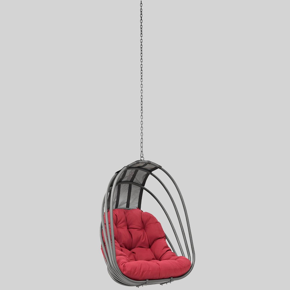 Whisk Outdoor Patio Swing Chair - Red - Modway