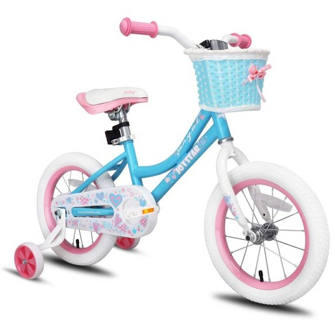 Joystar Angel 14 Inch Kids Toddler Training Bike Bicycle with Training Wheels, Rubber Air Free Tires, and Coaster Brake, Ages 3 to 5, Blue - image 1 of 4