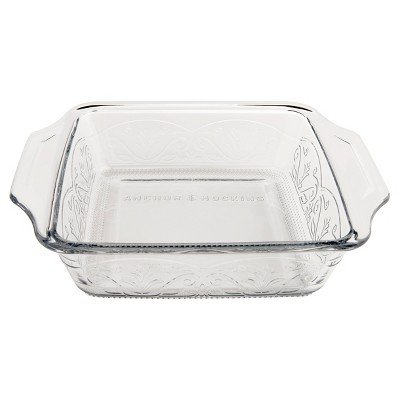Anchor Hocking Laurel 8  Cake Dish Clear