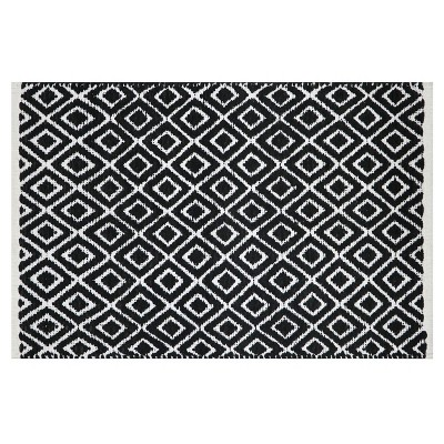 Diamond Bath Rug Black/White - Project 62™
