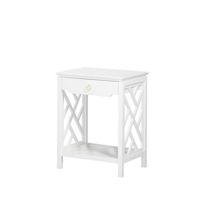 Thomas Chippendale-Style Nightstand in White - Comfort Pointe