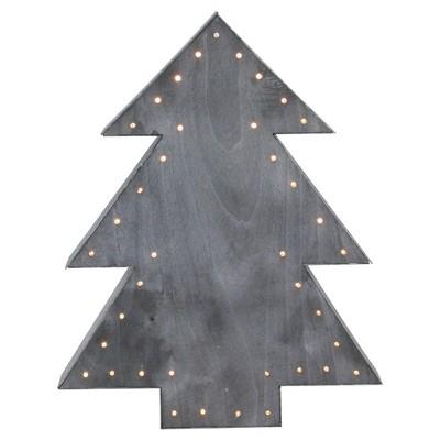 "Northlight 19.75"" Gray Pre-Lit Christmas Tree Tabletop Decor"