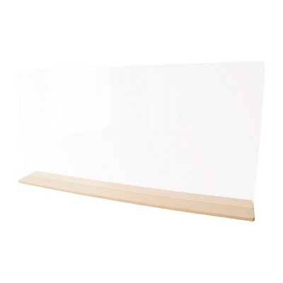 """Whitney Brothers Acrylic Tabletop Partition - 46"""" Wide"""