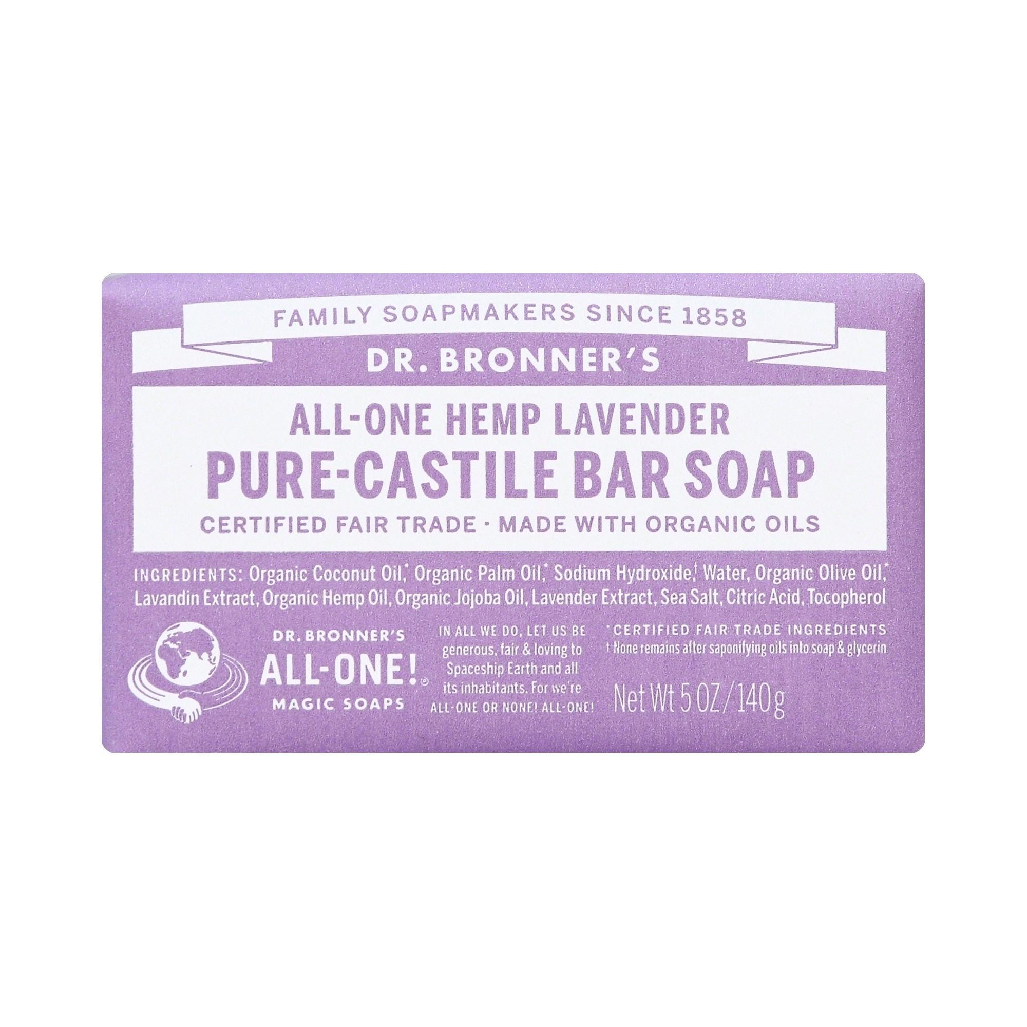 Dr. Bronner's Bar Soap - Lavender - 5oz