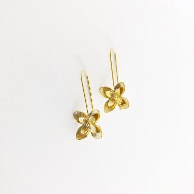 Sanctuary Project Magnolia Flower Earrings Gold