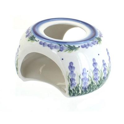 Blue Rose Polish Pottery Lavender Fields Teapot Warmer