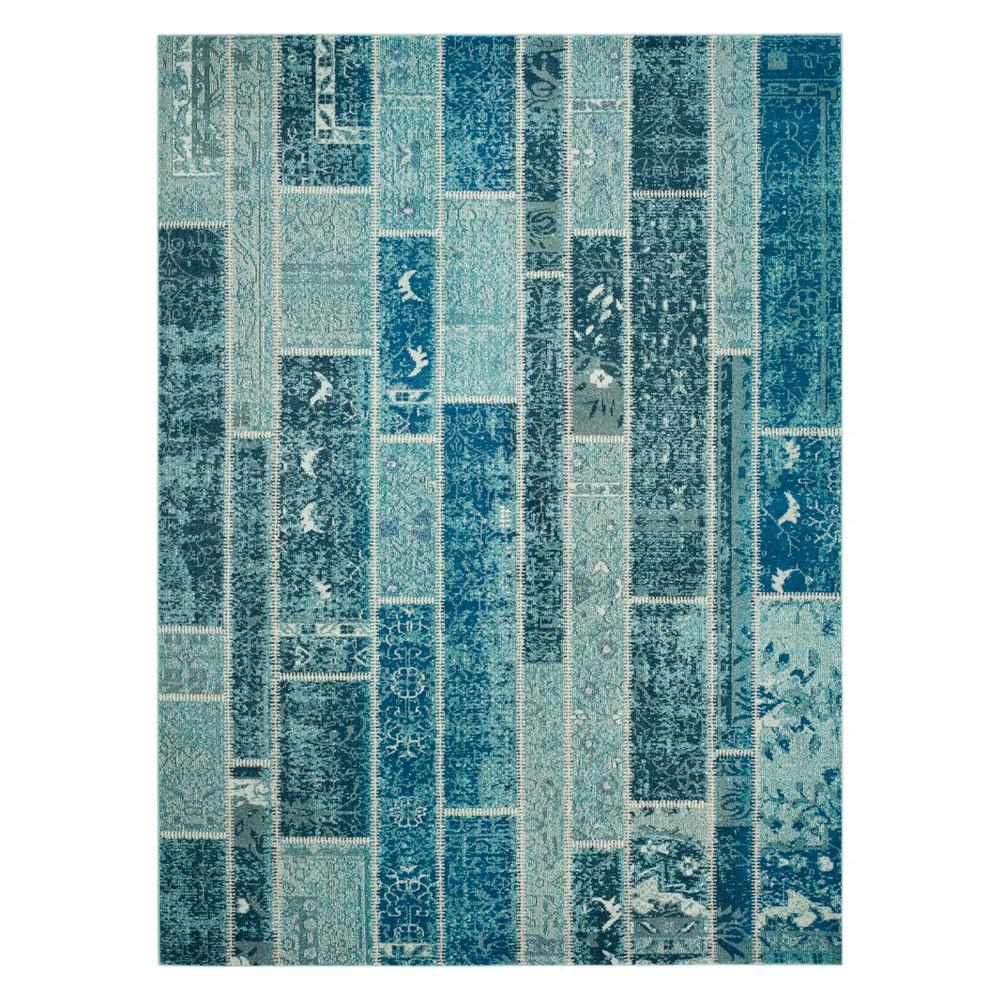 8'X11' Geometric Area Rug Blue - Safavieh, Blue/Multi-Colored
