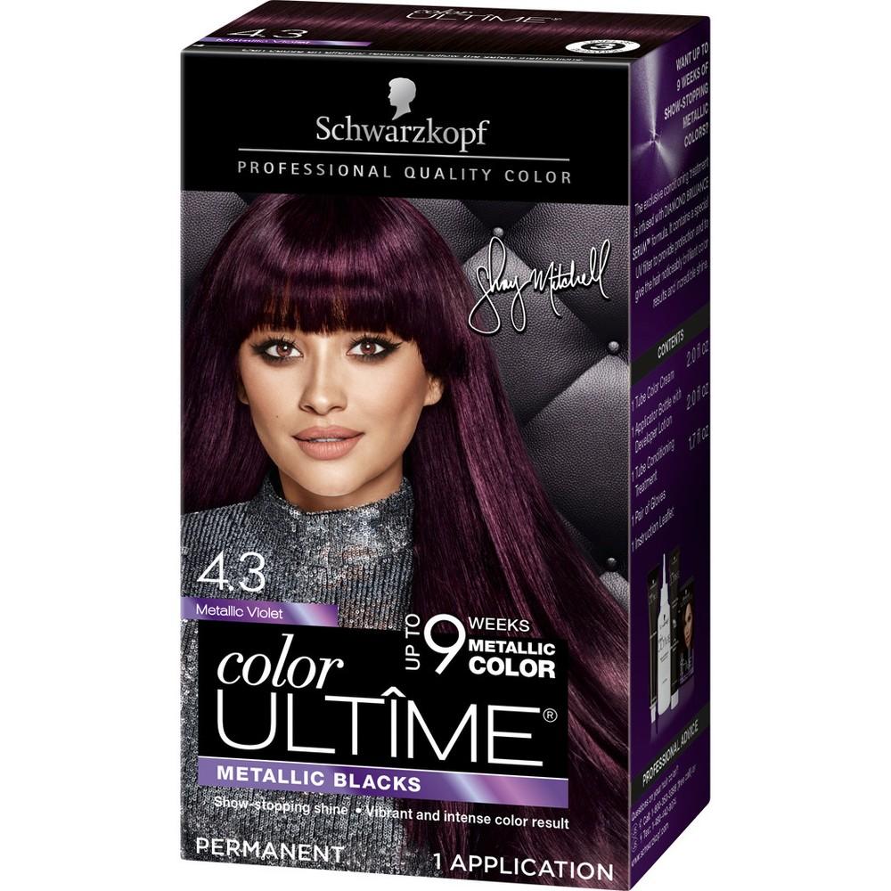 Image of Schwarzkopf Color Ultime Metallic Violet Permanent Hair Color - 5.7oz
