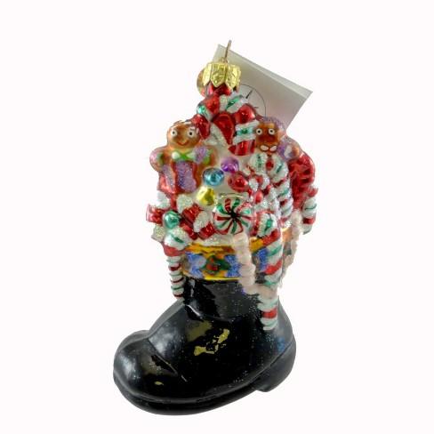 Christopher Radko Mint Condition Ornament Black Boot Santa - image 1 of 2