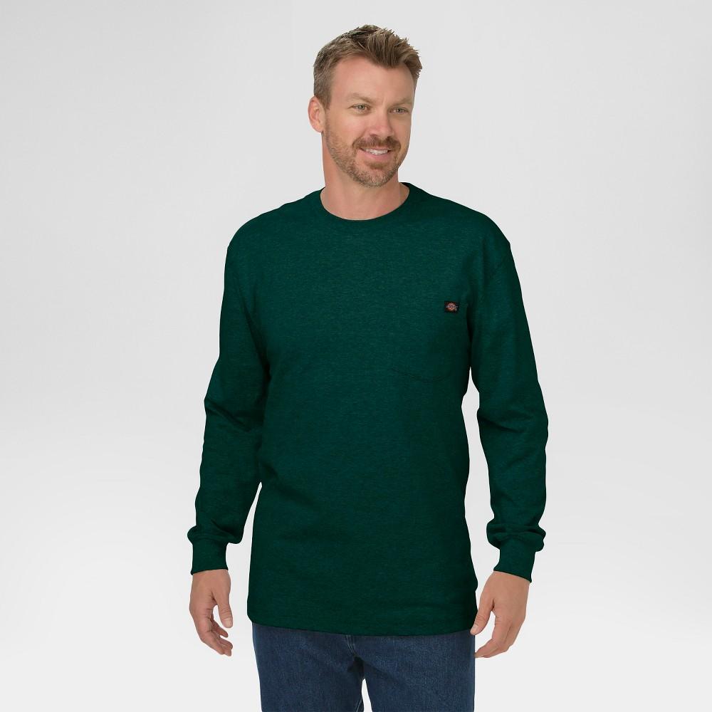 Image of Dickies Men's Cotton Heavyweight Long Sleeve Pocket T-Shirt, Men's, Size: Large, Hunter Green