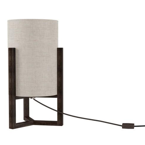 Cylinder Lamp with Column Wood Base (Includes LED Light Bulb) - image 1 of 4