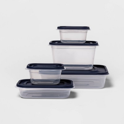 10ct Press Lid Plastic Food Storage Set - Made By Design™