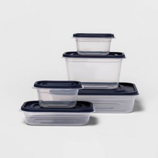 10ct Press Lid Plastic Food Storage Set - Made By Design™