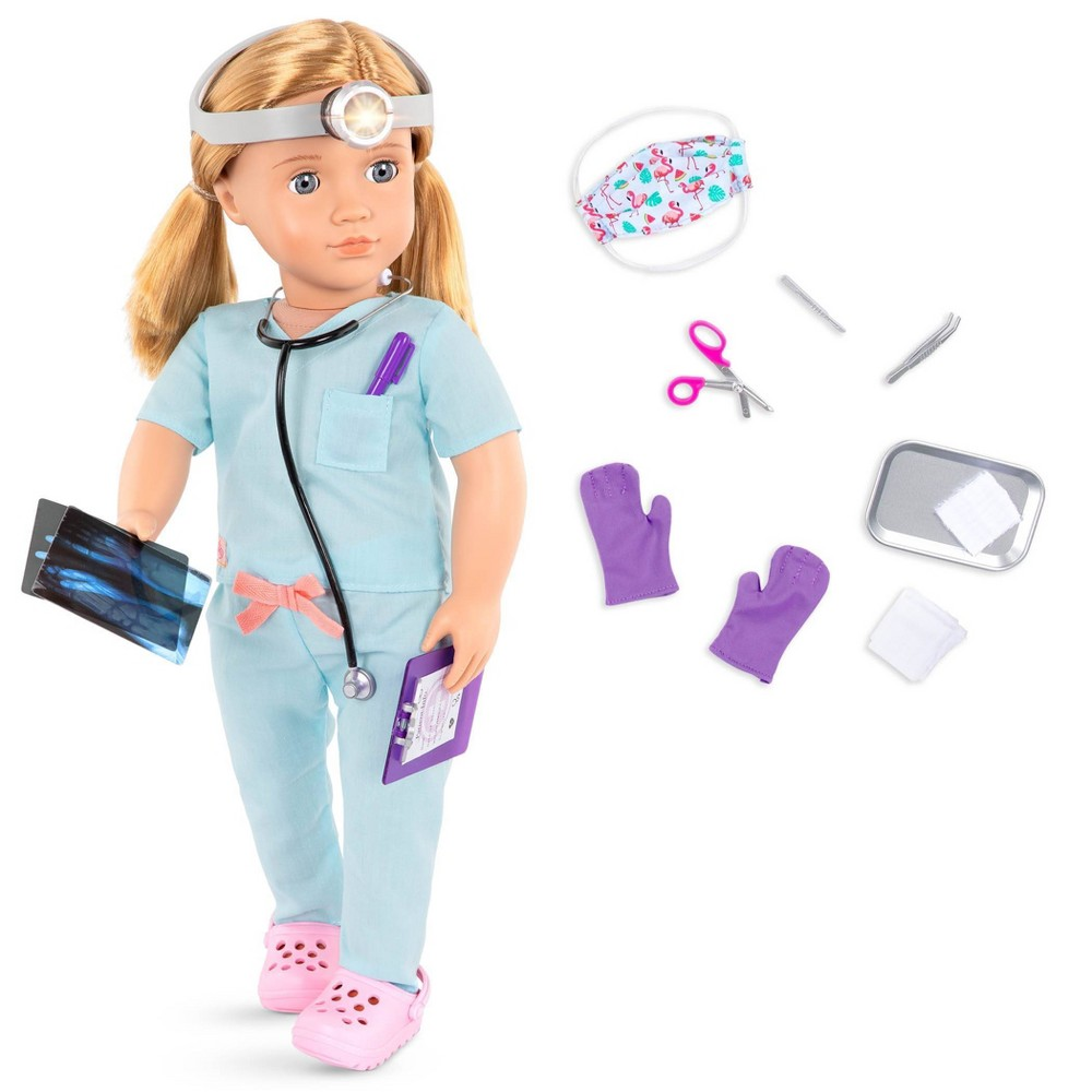 Our Generation 18 34 Doctor Doll With Scrubs Outfit Tonia